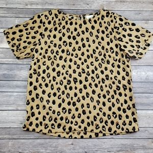 A New Day Animal Print Blouse Sz Small